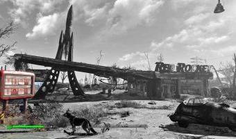 The wasteland show itself to players in its sublime beauty: a dangerous place that is highly fascinating at the same time.