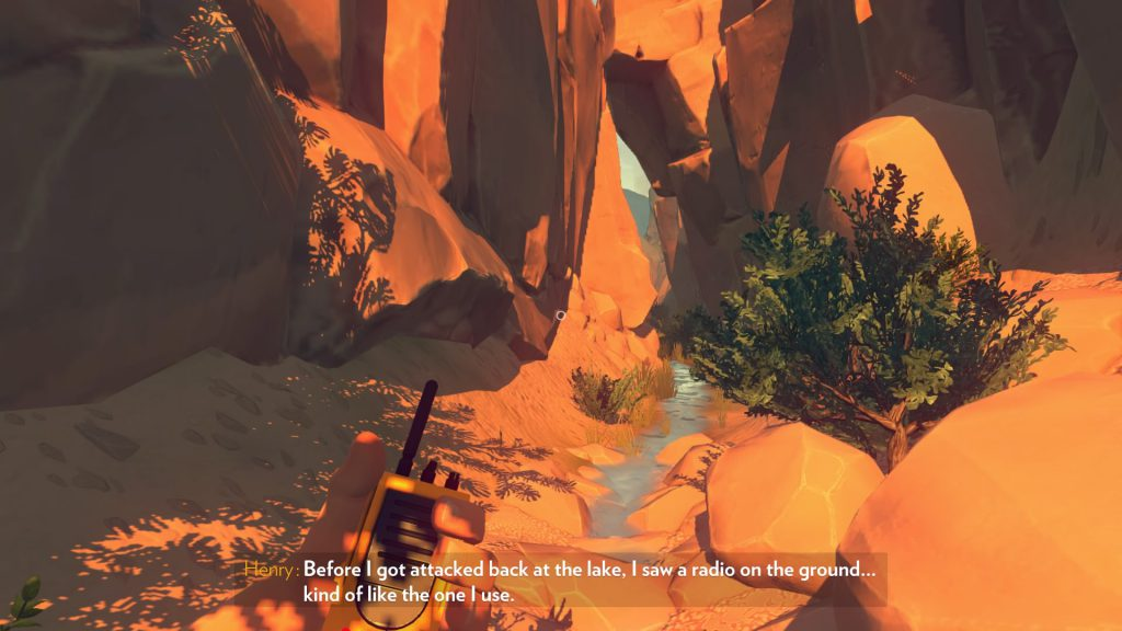 The sounds of wind in narrow canyons further enhance the player's feeling of frenzy.