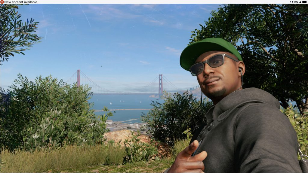 Posing in front of the Golden Gate